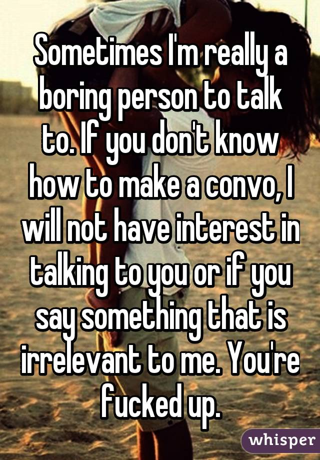 How to not be a boring person