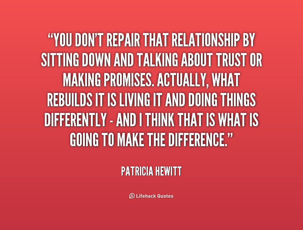 How to repair a relationship