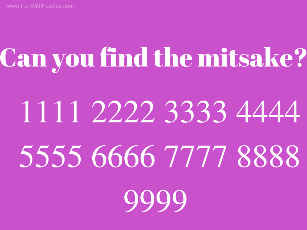 Find the mistake pictures