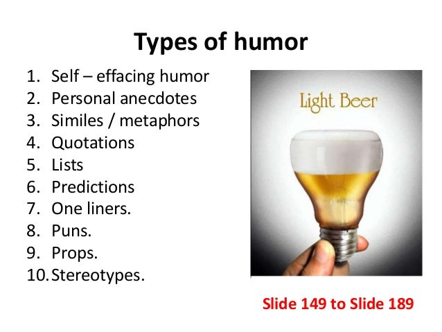 Different kinds of humor