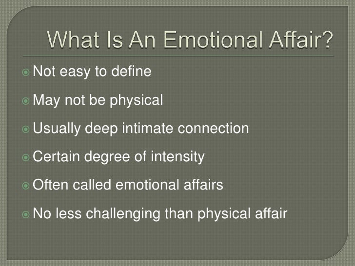 Definition of emotional affair
