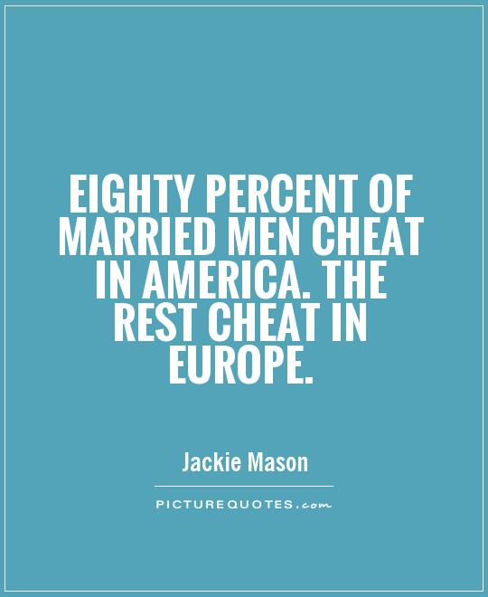 Percentage of married men who cheat