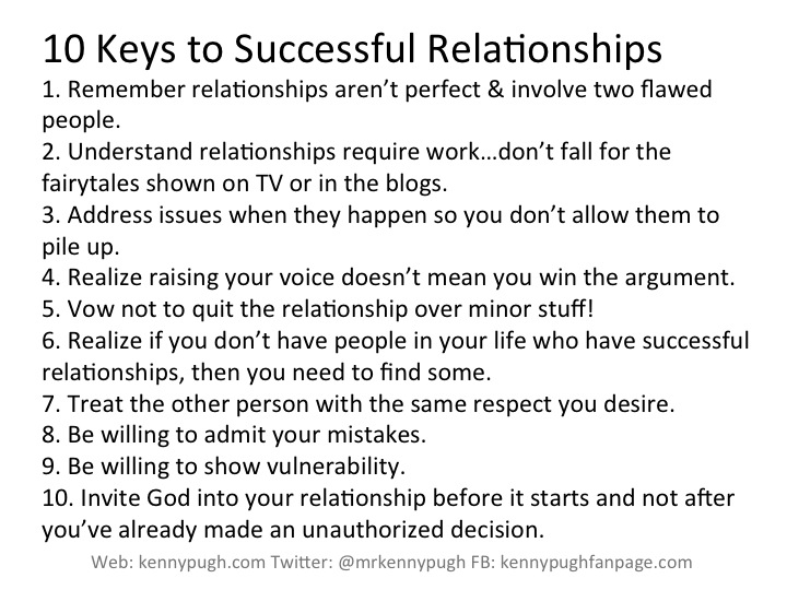 Keys to a successful relationship