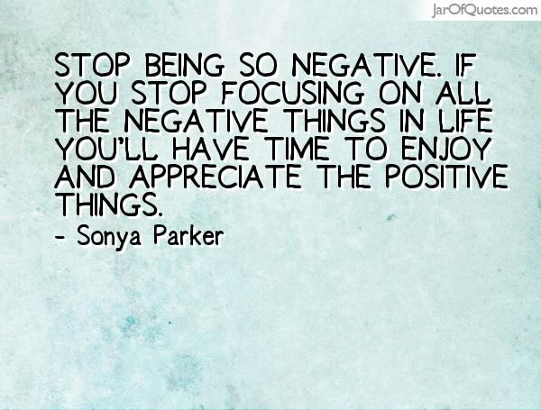 How to stop being so negative