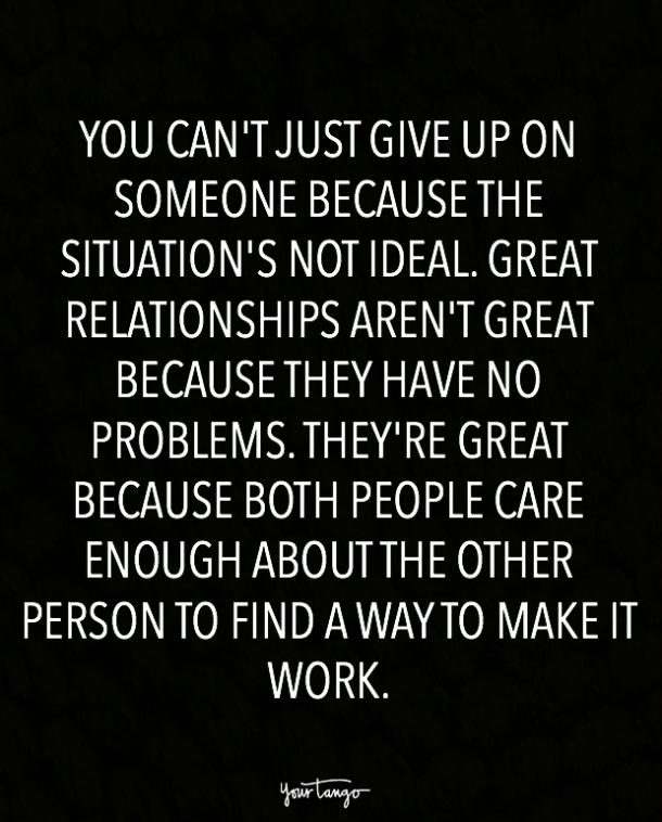 Giving up on relationships