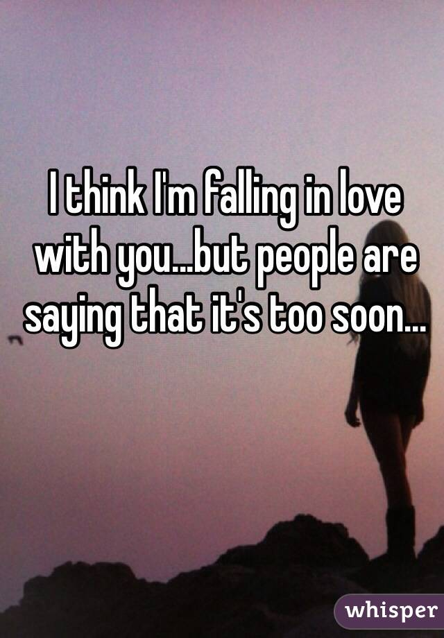 Help me i think i m falling in love with you