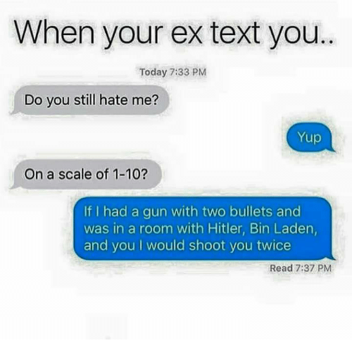 What does it mean when an ex texts you