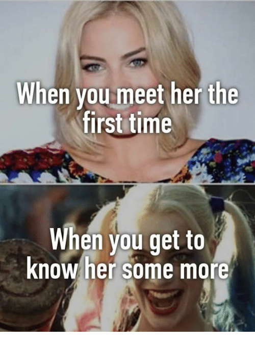 When you first meet a girl