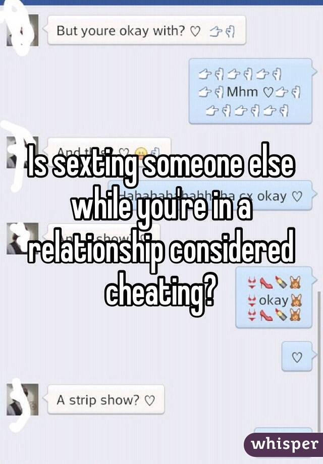 Is sexting considered cheating