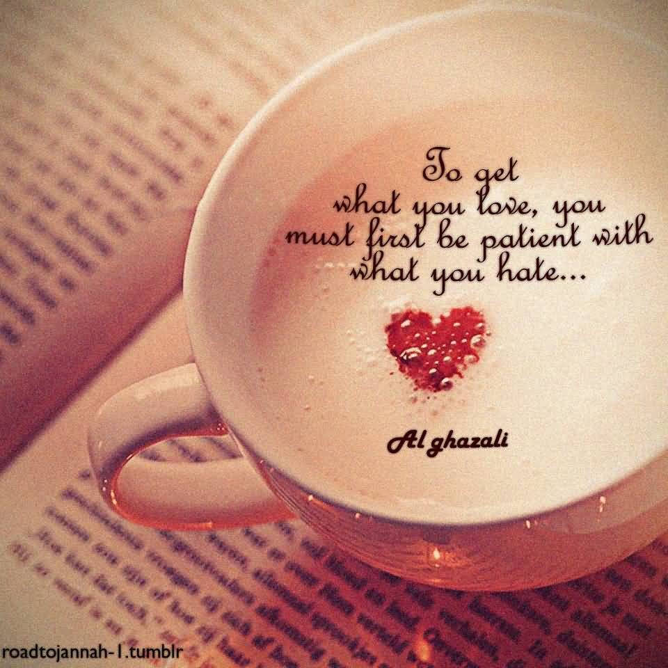 How to be patient with love