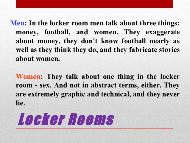 Things men talk about