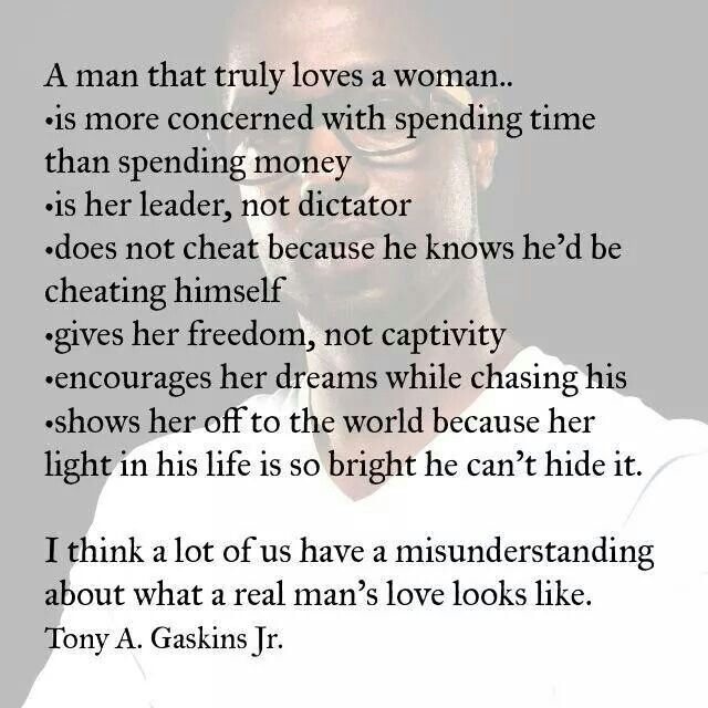 How a man knows a woman loves him