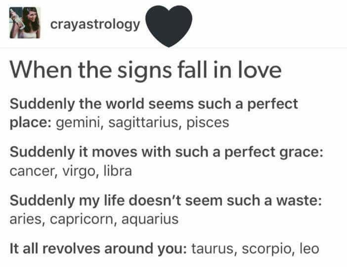 Best signs to fall in love with