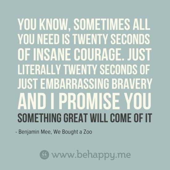20 seconds of bravery