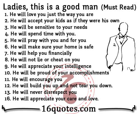 What is a good man