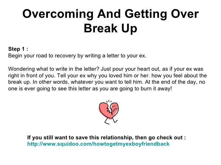 Ways to get over breakup