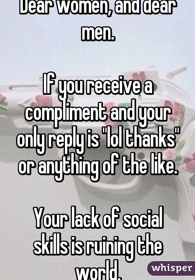 Compliment men like to receive