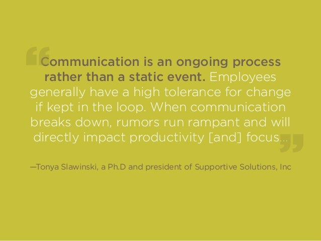 What to do when communication breaks down