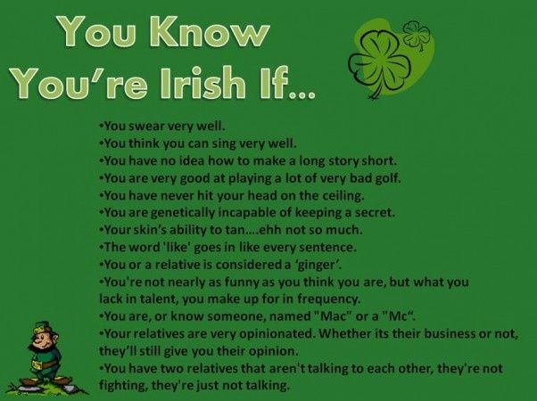How to know if an irish man likes you