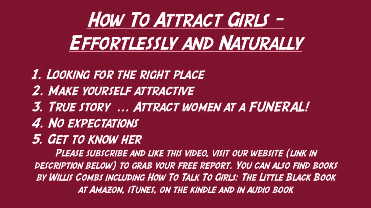 Ways of attracting a girl