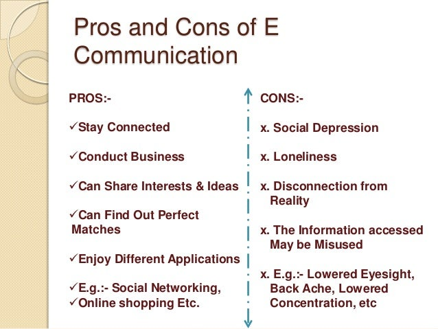 Pros and cons of online communication