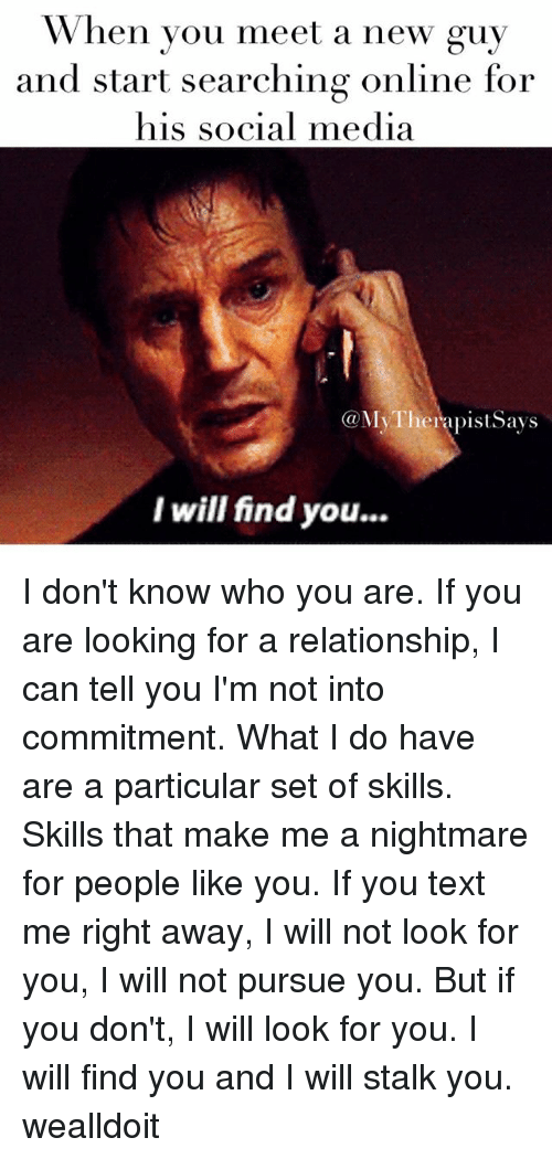 Looking for relationship online