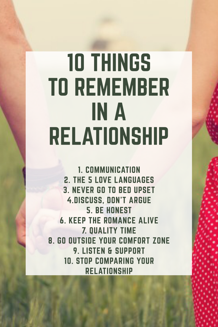 5 important things in a relationship