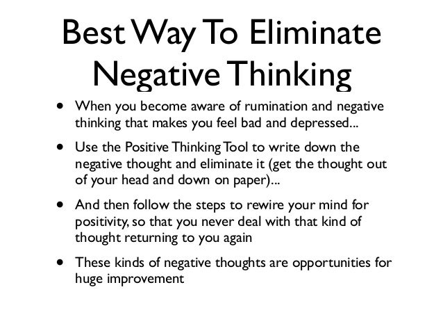 How to stop thinking so negative