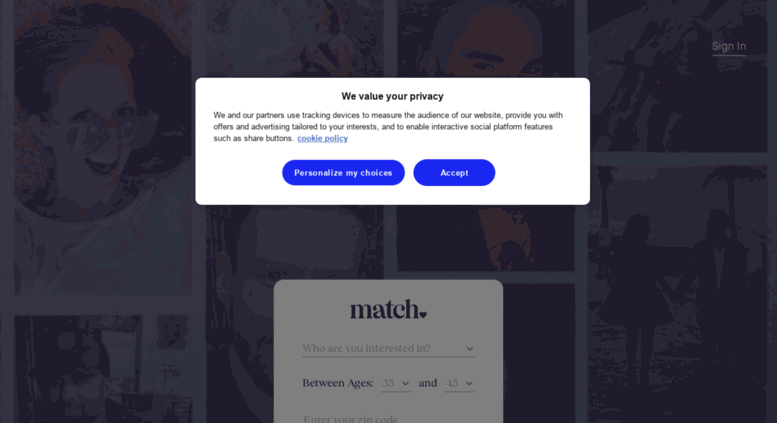 Search singles for free on match com