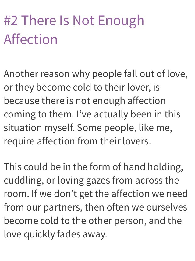 Why people fall out of love