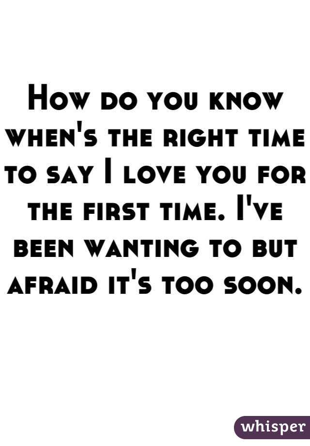 When to say i love you for the first time
