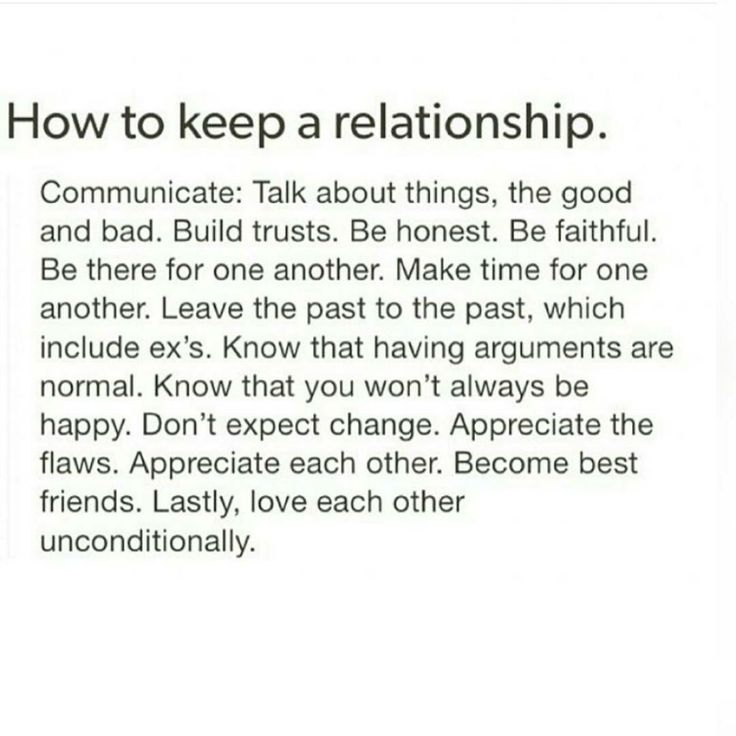 Tips on how to keep a good relationship