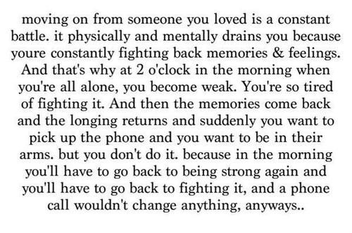 Moving on from someone you love
