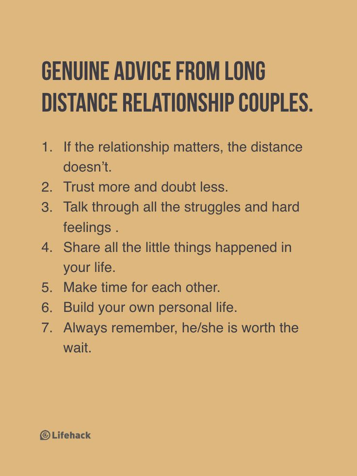 Advice for long distance relationships