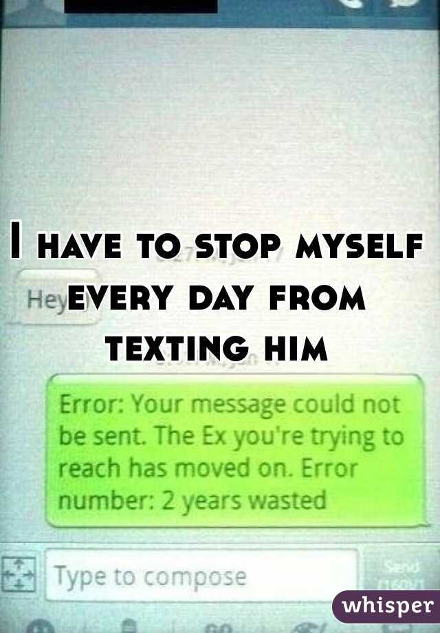 How to stop texting someone