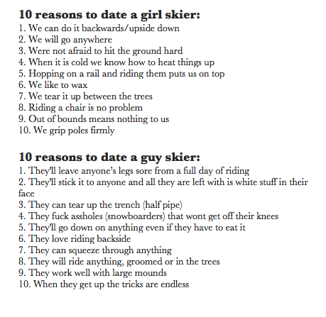 Reasons to like a guy