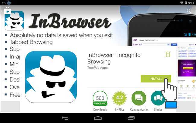 App for private browsing
