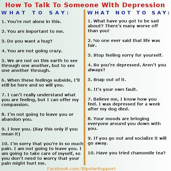 How to treat someone with depression