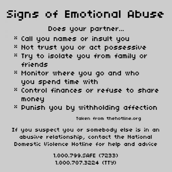 Signs of mental and verbal abuse