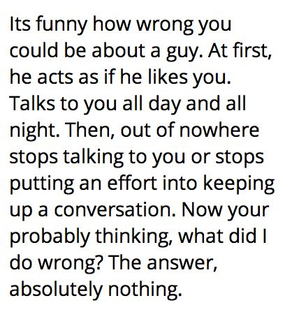 How to stop talking to a guy