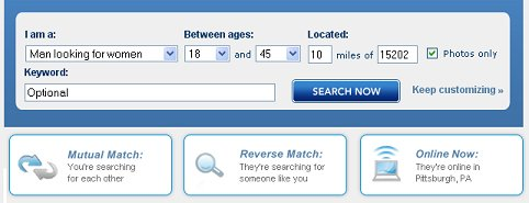 How to search match com without signing up