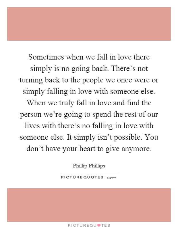 Can you fall back in love with someone