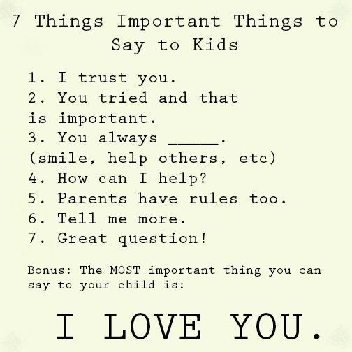Good things to say to girls