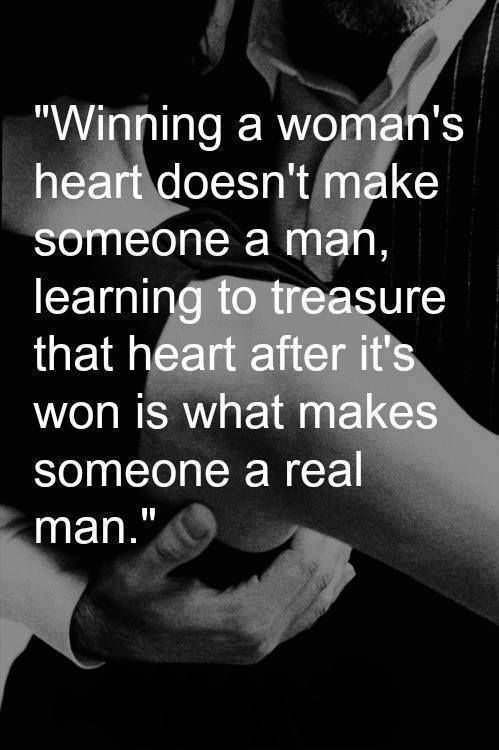 What a real man is
