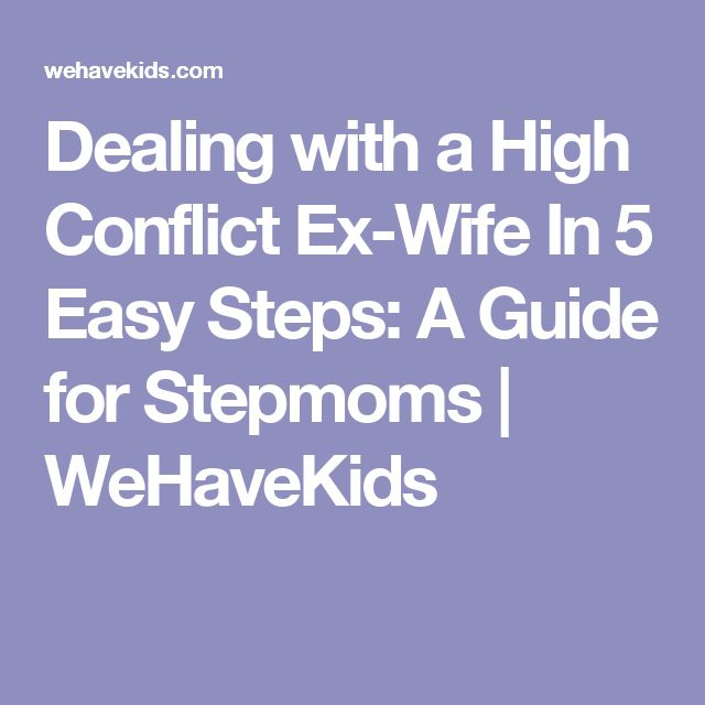 How to deal with a bitter ex husband