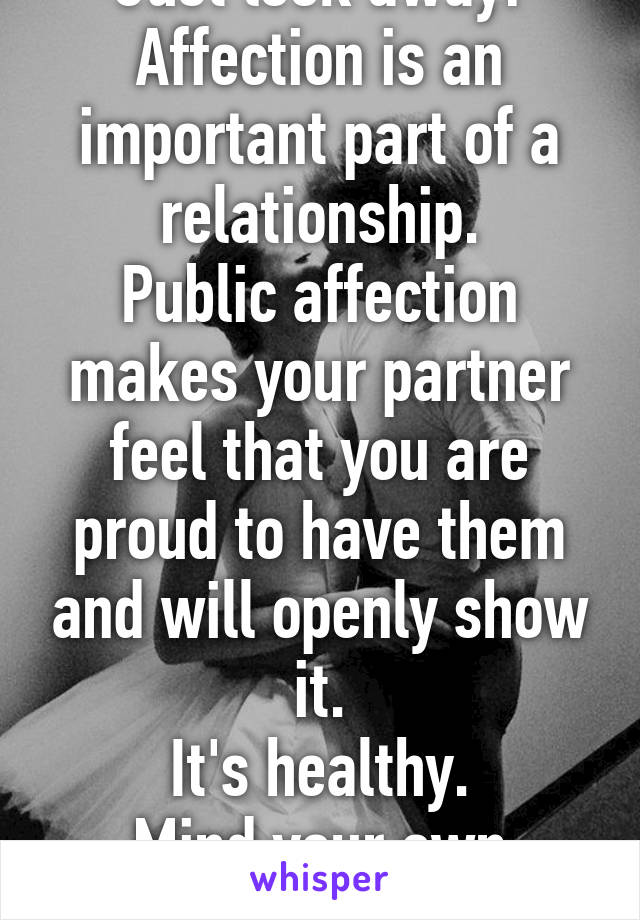 The importance of affection in a relationship