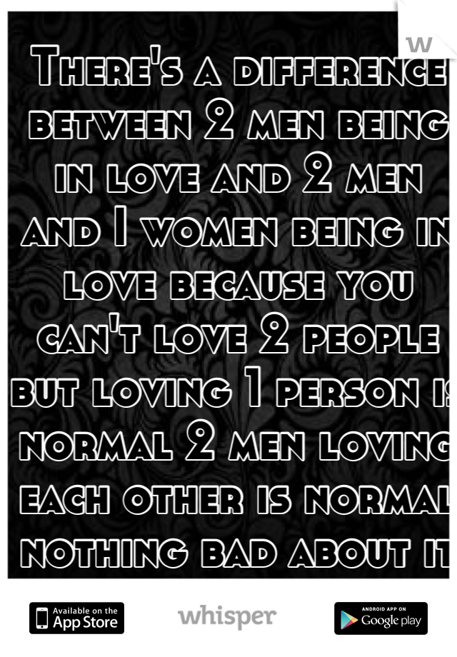 Being in love with 2 men