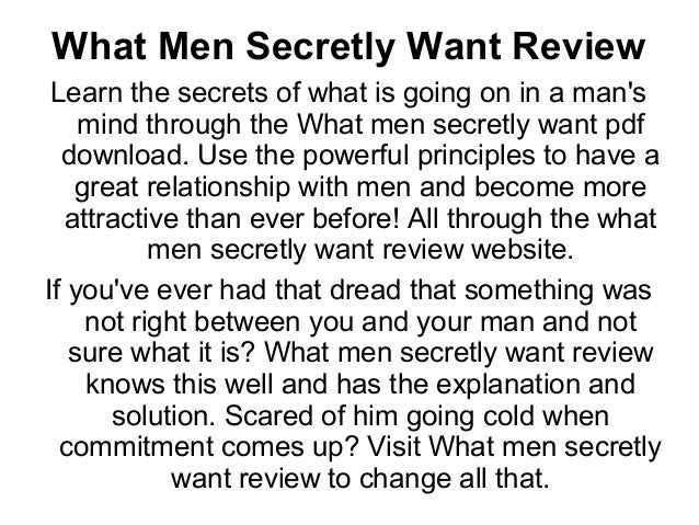 What men want relationships