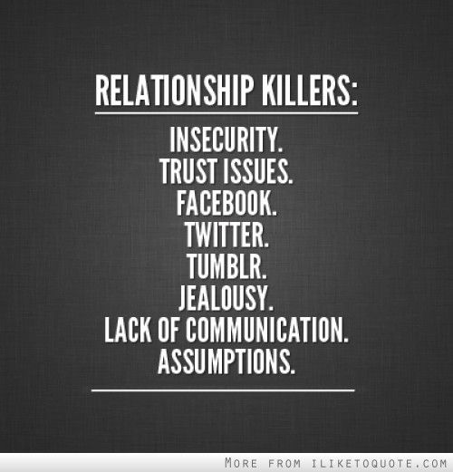 Issues with trust in relationships