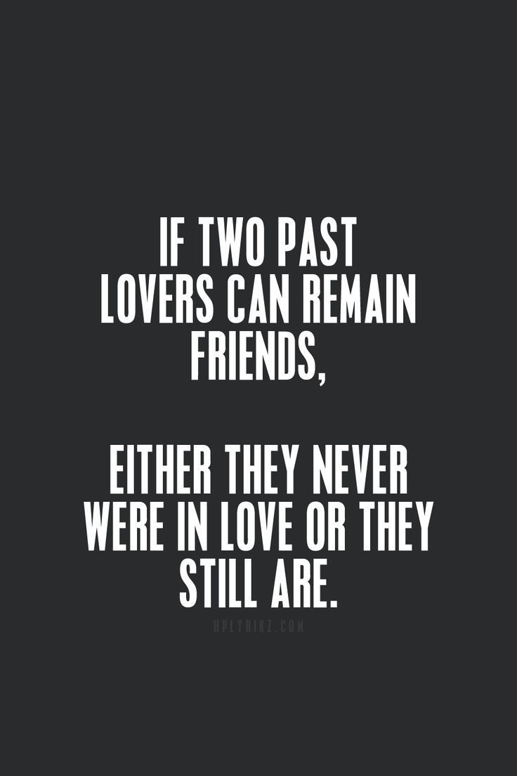 Can past lovers be friends